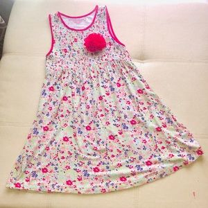 Girls Sleeveless Floral Dress || Size 6